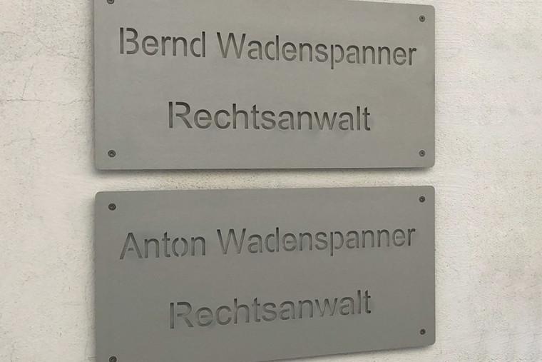 Eingangsbereich von Rechtsanwalt Wadenspanner